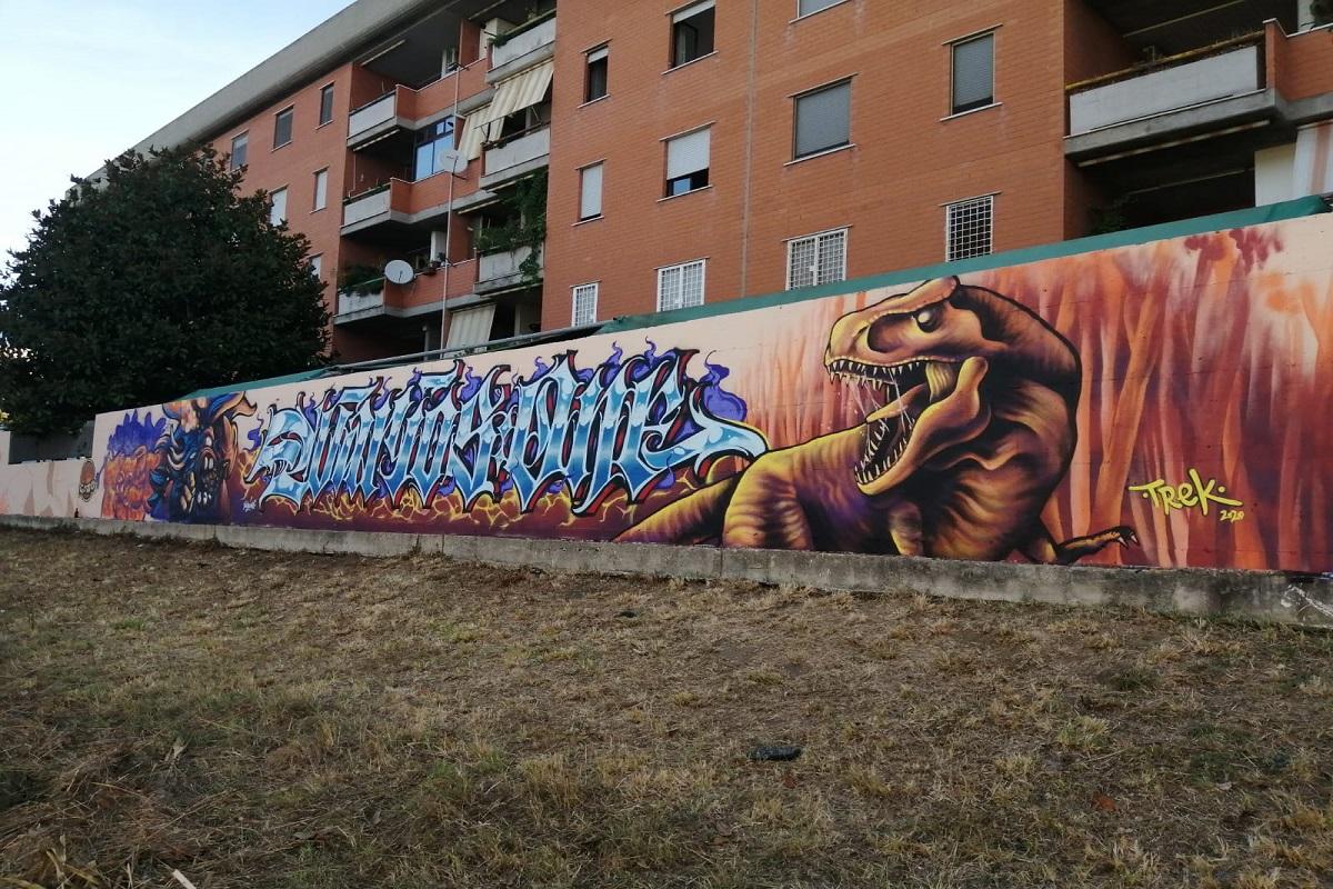 Un murales colora via Ferrari a San Giorgio di Acilia